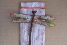 Arte con materiali insoliti / Creazioni artistiche con materiali di riciclo, vecchi legni, ecc...