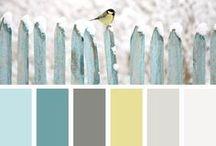 TAVOLOZZE COLORI / Abbinamenti di colori che incantano