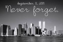 September 11, 2001 / Early on the morning of September 11, 2001, 19 hijackers took control of four American Commercial Airliners. The 1st Plane hit the North Tower of the World Trade Center at 8:46 a.m. The 2d plane crashed into the South Tower of the World Trade Center at 9:03 a.m. Hijackers also flew a 3d plane into the Pentagon at 9:37 a.m. The final 4th plane, flight 93 crashed into the ground near Shanksville, Pennsylvania, at 10:03 a.m..   PLEASE START AT THE BOTTOM OF THIS BOARD.  / by Jr 88 Rules!
