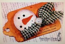 Winter and Xmas crafts / Home decoration, December daily, Xmas scrapbooking, Xmas tree decorations...