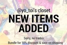 Toi's Poshmark Closet / Shop my closet on Poshmark @yo_toi and get the best deals on amazing fashion finds, style tips and more. Join me and be part of this awesome community where we share a common love for women's fashion.