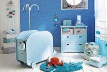 Nautical Nursery | Maisons du Monde / Calming blue hues with coastal elements make for a light-hearted, fun filled nursery