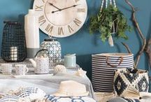 Escale | Maisons du Monde / Make a splash in your home with Escale. A new wave of nautical!  Dive into the deepest blues, add a wash of white or wave a woven wand with this coastal collection that will leave you longing for beach days.