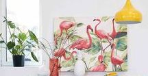 Tropical Interiors | Maisons du Monde / Add a touch of tropics to your home to help make every day feel like a holiday! From leafy foliage to pink flamingos, find inspiration for your very own paradise.