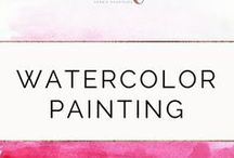 Watercolor Painting / Tips and tricks to learn and improve your watercolor painting skills. Can't find time in your busy schedule for the things you love? Discover Mindful Planning today and start to manage your days and make room for yourself. Visit debbieinshape.com! #confidence #productivity #success #watercolor #painting #art #personaldevelopment