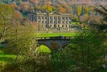 """Derbyshire / Though it is virtually certain that Jane Austen did not visit this county, it played an important part in her most famous novel, """"Pride and Prejudice"""" for it was in this county that Mr Darcy had his idyllic home and estate, Pemberley."""