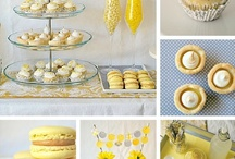 Baby Shower - Yellow, White and Grey Colour Scheme / Planning my own baby shower with a yellow, white and grey colour scheme including flowers, favours, cakes and finger sandwiches.  We'll be playing games and giving ideas on motherhood.