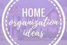 Home Organization Ideas / Home organization ideas for moms. DIY organization hacks, organization tips and tricks.