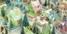 Glitterhouses / Tutorials and inspiration for creating sparkly miniature village scenes.