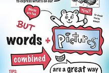 Visual communication + Infographics / Using visuals to communicate ideas and information