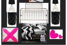 tween dream  bedroom ideas / creating a board of ideas for our teen attic master bedroom that incorporates and reflects the colourful personality of my eldest daughter