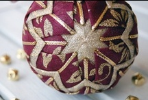 Fabric quilted Ornaments / by Severina Brites