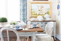 | DINING ROOM-spiration | / ...because I like to rotate my dining set each year.  So many beautiful dining sets, only one dining room.  I can't help myself!   / by Miss Mustard Seed