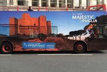 #WeAreinPuglia 2015 / Romantic, Authentic, Majestic…ci sono autobus che parlano della Puglia in alcune città europee! Se vi è capitato di vederli, taggateci postatecele e usate #WeAreinPuglia, le pinneremo qui ;)
