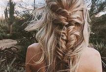 beauty • hair / hair styles / color / cut / braids / long hair / hair growth / tutorials / beach waves / blonde hair ideas / balayage / ombre / wavy hair / beauty / makeup