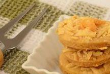 Biscoito salgado / Imagens e receita de um biscoitinho amanteigado super fácil de fazer!