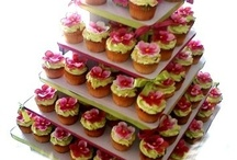 Cupcake Stands - 5 Tiers / Corrugated Cardboard Cupcake Stands. Perfect to display anything you desire.