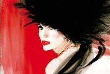 René Gruau  / René Gruau, né Renato Zavagli-Ricciardelle delle Caminate  le 4 février 1909 à Rimini en Italie et mort le 31 mars 2004 à Rome en Italie.  Dessinateur, affichiste et peintre franco-italien connu dans le monde entier pour ses illustrations de mode et ses publicités  / by Paty Tann