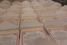 Wedding invitations / Inspiration for our wedding invitations and a few pictures of the final product!
