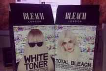 REVIEW | BLEACH London. / Review of BLEACH London products. From brown dip-dye hair to platinum blonde. The process and styling products used to achieve the look.