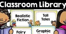 Classroom Library / book bin labels, classroom library organization