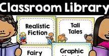 Classroom Library / book bin labels, classroom library organization