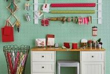 Craft Room / Ideas for organizing and decorating a craft room