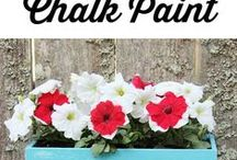 Americana Décor Chalky Paint & Stencils / Add vintage-flare to furniture and home decor with DecoArt Americana's new Décor Chalky Paint! Similar to Annie Sloan Chalk Paint, choose from 29 fantastic colors in 8 ounce jars. Vintage and Country French style stencils available! Laser-cut.
