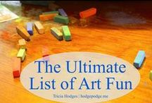 Homeschool Art / Ideas for teaching art at home: curriculum suggestions, favorite books, chalk pastel resources, simple projects, and more / by Lauren Hill
