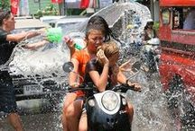 Songkran The Biggest Water Fight in the World / The Thai New Year celebrated on the 13th to the 15th April.