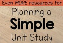 Homeschool Unit Study Helps / FInd a plethora of unit study ideas and resources: crafts, hands-on activities, websites, printable packets, and more / by Lauren Hill