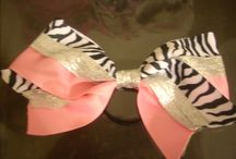 CHEER BOWS!!! / by Kristin A Crowley