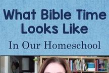 Homeschool Bible Study / Ideas for teaching Bible study at home, including tips and encouragement, resources, and worksheets & printables / by Lauren Hill