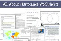 Hurricanes Unit Study Help / These hurricane-themed resources are a great add-on for any Hurricane Unit Study: hands-on activities, book suggestions, worksheets & printables, and more / by Lauren Hill