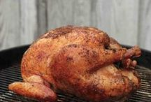 Grilled Turkey / Recipes and How To on grilling your Thanksgiving turkey.