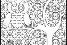 Crafty Coloring Pages / Coloring pages for adults