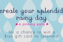 My Splendid Rainy Day / Pin to Win a $150 gift card to spend at Splendid! Contest rules on our website. Copy and paste this link into your browser: http://www.movelifestyle.com/move/?p=7853