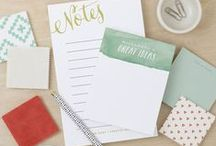 Notepads / Your to-do list just got better looking with our boutique collection of personalized notepads. At Expressionery, we offer an assortment of beautifully designed, quality stationery, custom ink stamps and personalized gifts. www.expressionery.com / by Expressionery