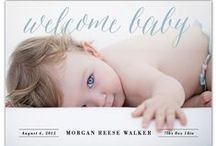 Birth Announcements / Beautiful designs to help you share your joyful news.  / by Expressionery