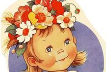 Postcards-Vintage-Mable Lucie Atwell