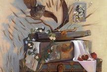 Still Life Paintings / Still Lifes on exhibit at The Whistler House Museum, Lowell Ma through Nov 12