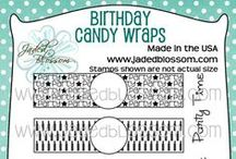 Birthday Candy Wraps