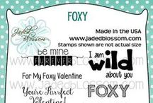 Foxy / Projects created with the Foxy stamp set from Jaded Blossom.