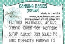 Canning Basics Revamp / Projects created with Jaded Blossom's Canning Basics Revamp Stamps