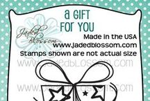 "A Gift For You / projects created with Jaded Blossom's ""A Gift For You"" stamp set."
