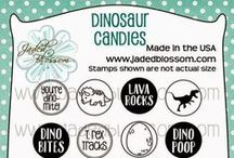 Dinosaur Candies / Dinosaur theme craft projects