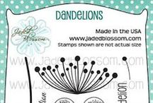 Dandelions / Jaded Blossom Flowers, Dandelion, layered stamps