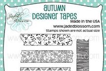 Autumn Designer Tapes / Fall theme, Designer Tapes