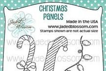 Christmas Panels / Favors, Cards, Christmas Crafting, Created with Christmas Panel Stamps