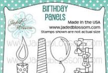 Birthday Panels / Birthday Crafts, Birthday Projects, Birthday Panel Stamps